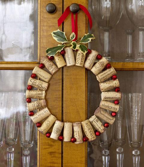 Funky Cork Wreath