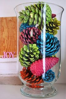 Neon Pinecone Craft