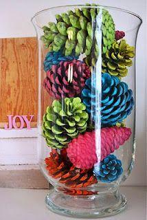 Neon Pinecone Craft