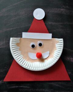 Paper Plate Santa 5