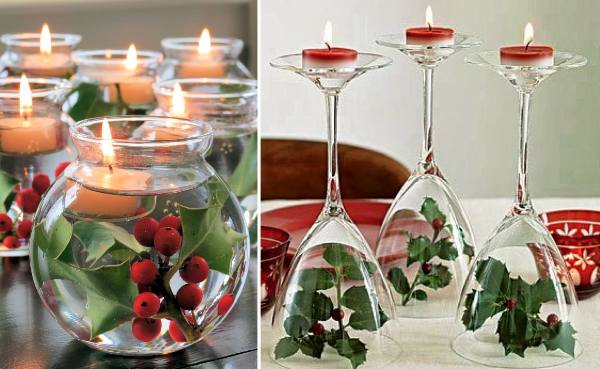 Floating Christmas Candles